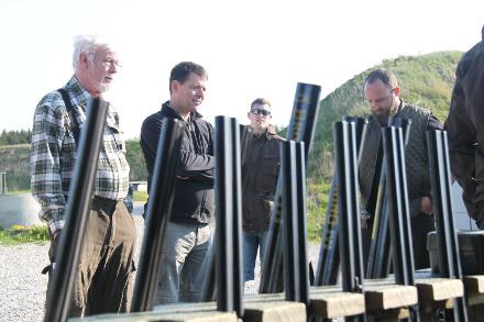 Våbene klar til praktisk jagttegnsundervisning