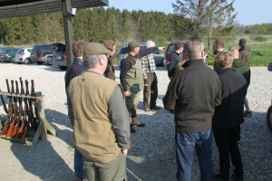 jagttegnsundervisning praktisk øvelse