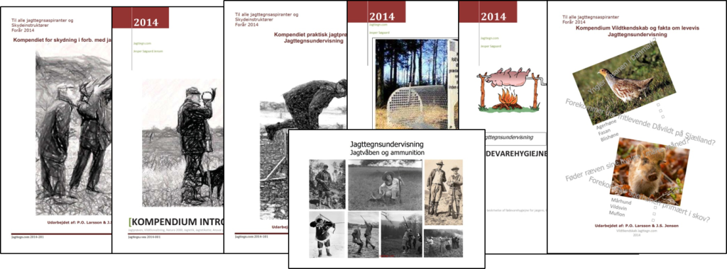 Undervisningsmateriale  Kompendier udgivet af jagtegn.com