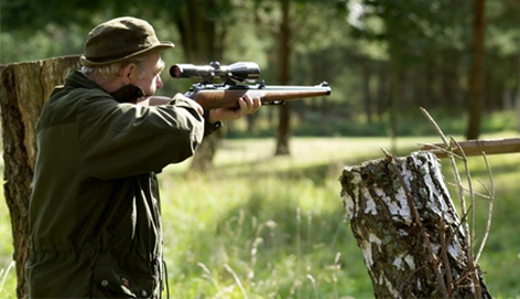 Jagttegn: Skydning med jagtriffel